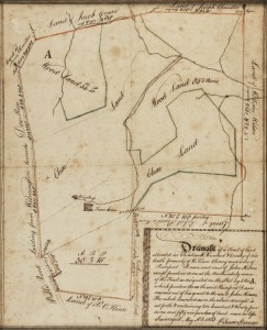 Land survey of New Castle County, Drawn by Isaac Stevenson, New Castle County, Delaware; 1803 Ink and watercolor on laid paper. Bequest of Henry Francis du Pont 1957.642a,b