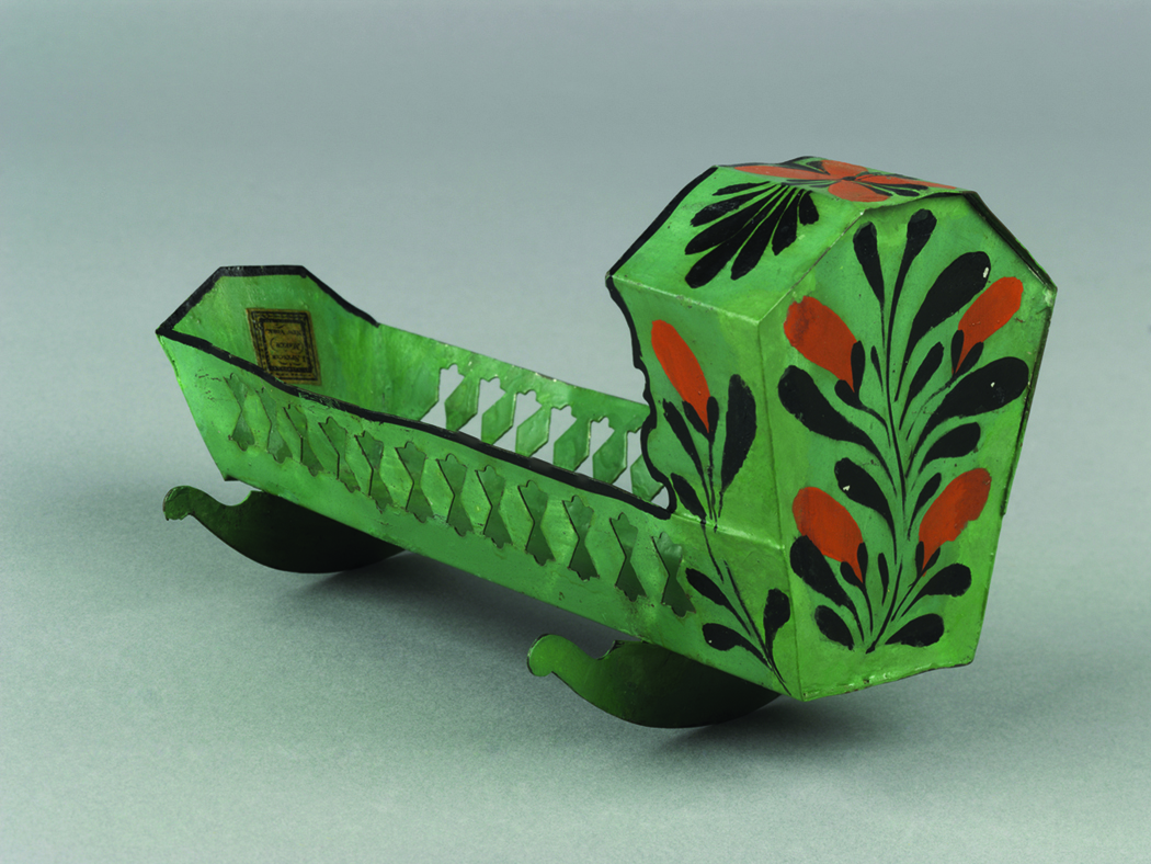 Toy cradle, made by James Spencer's toy manufactory, New York, New York, 1829–61 Museum purchase 1970.70.