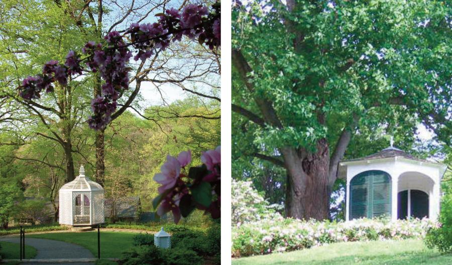 Left: Latimeria Summerhouse; right: Bristol Summerhouse