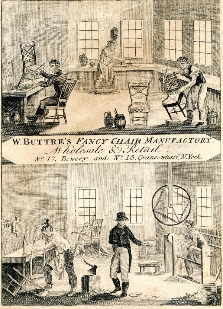 William Buttre trade label, 1813–14.
