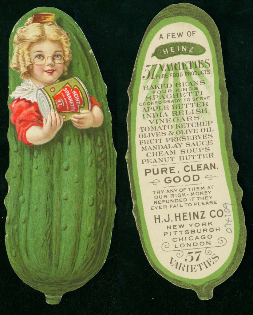 H. J. Heinz Co. trade card, ca. 1900.
