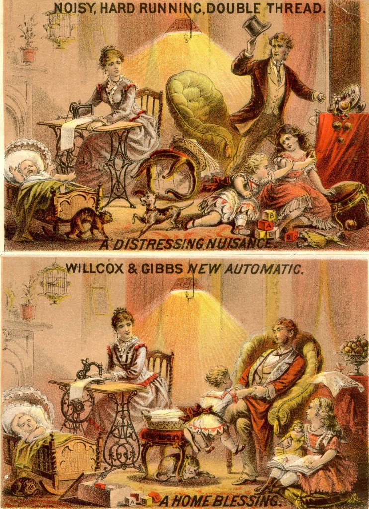 Willcox & Gibbs trade card, ca. 1876.