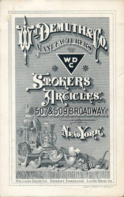 Wm. Demuth & Co. catalogue cover, circa 1870. From tobaccopipeartistory.blogspot.com.