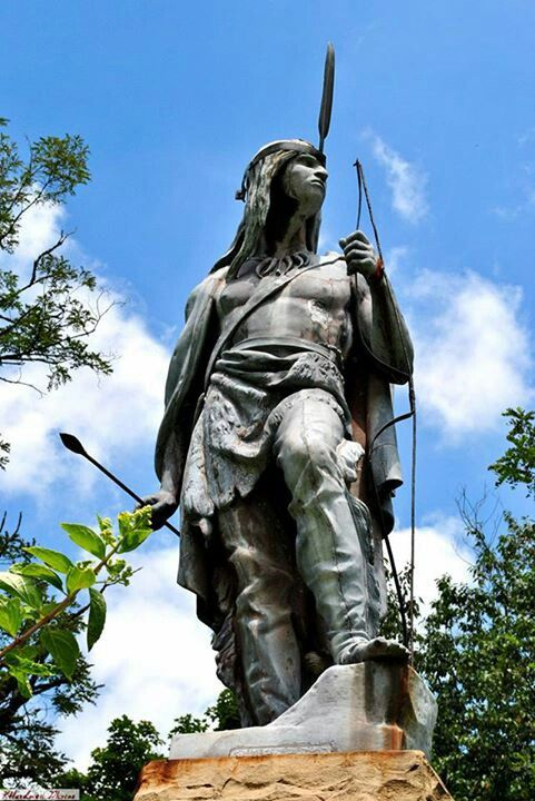 Indian Chief statue, Mingo, West Virginia.