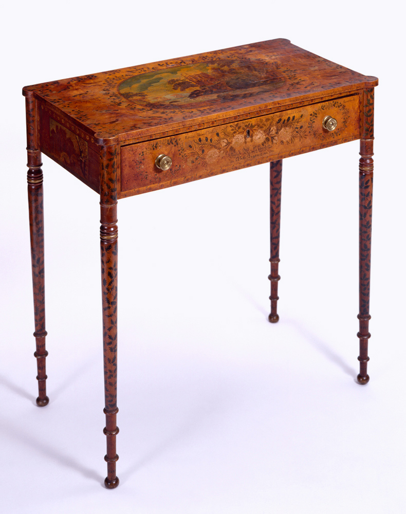 Chamber table by Rachel H. Lombard, 1816, New England. Bequest of Henry Francis du Pont, 1957.0985