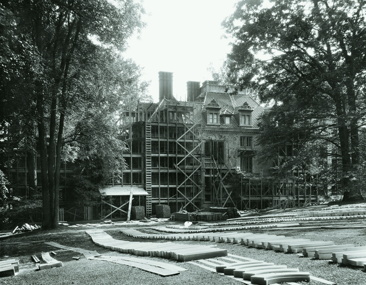 North side of the house, August 1929
