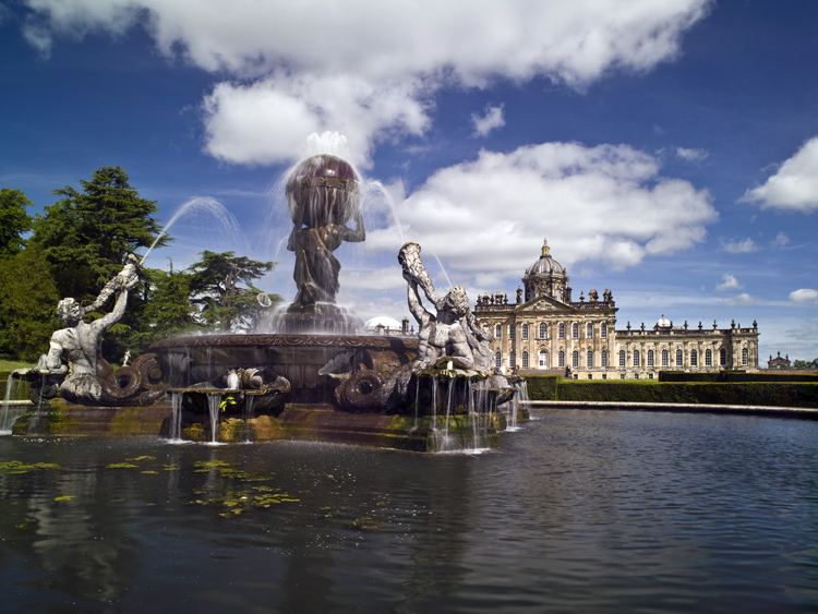 Castle Howard with Atlas Fountain. Photo © Mike Kipling