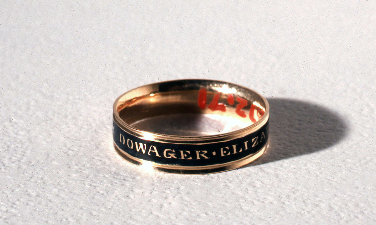 Ring, Boston, 1809. Gift of Mrs. George L. Batchelder, 1972.0071