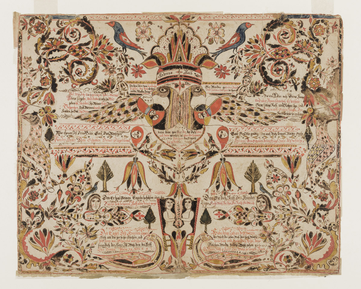 Fraktur (Religious text), Montgomery, Pennsylvania, circa 1785. Museum purchase with funds provided by the Henry Francis du Pont Collectors Circle, 2013.31.71