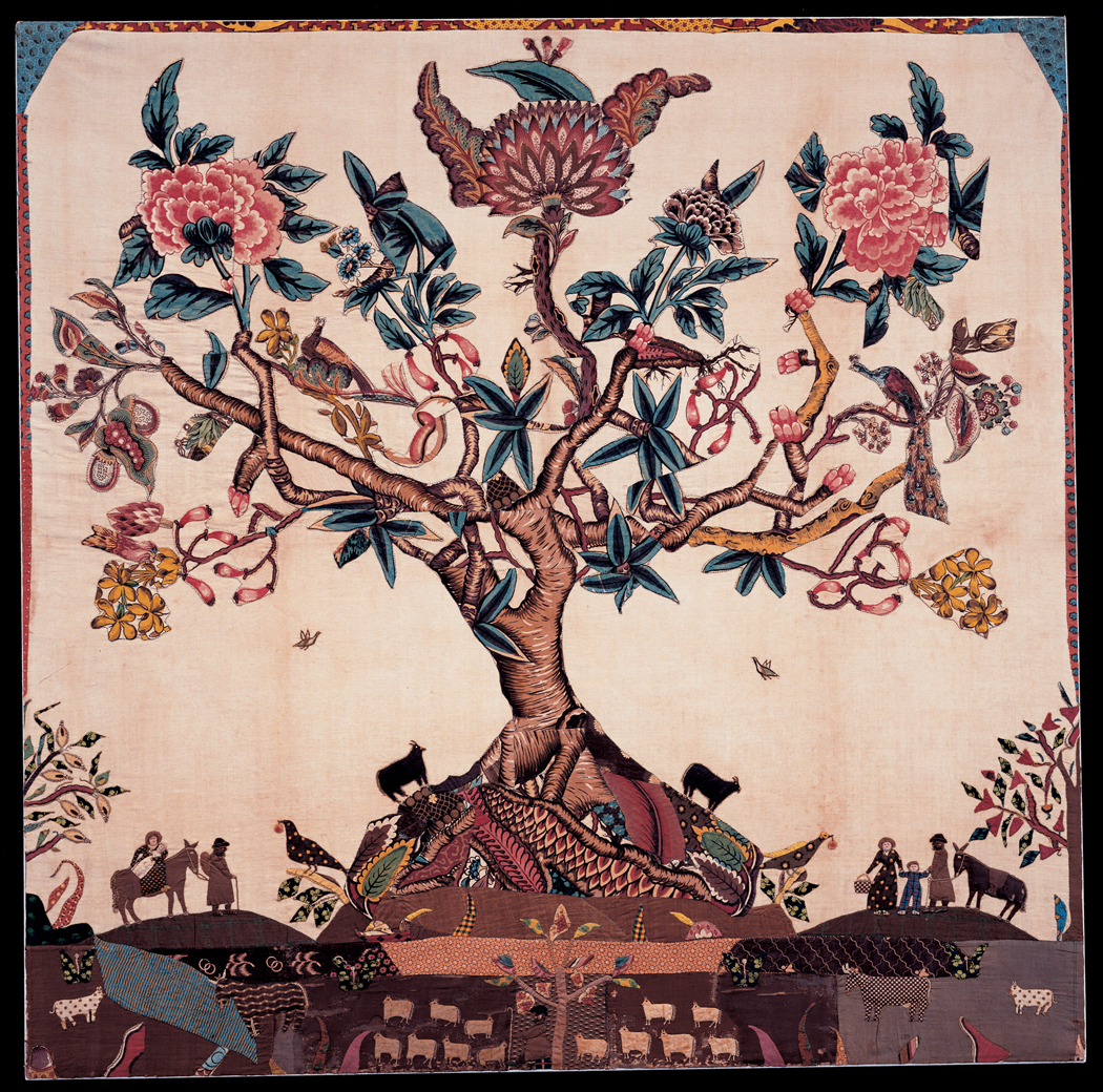 Needlework picture (Appliqué quilt center), Sarah Furman Warner Williams, New York, 1800–1820. Bequest of Henry Francis du Pont 1959.1497