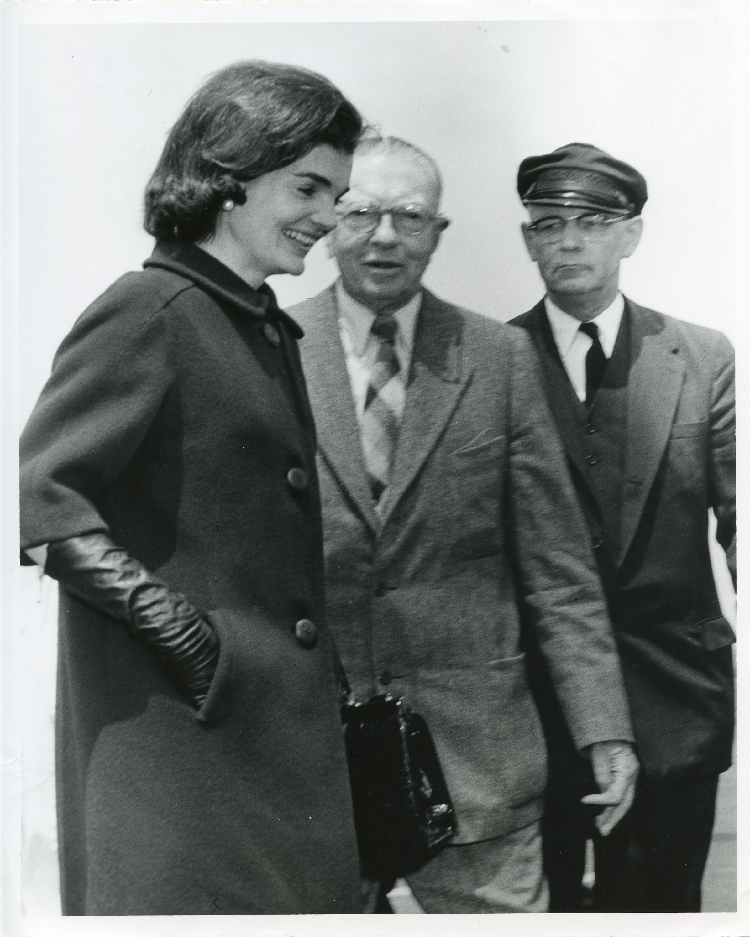 Jacqueline Kennedy, H F du Pont, and chauffeur Dana Taylor