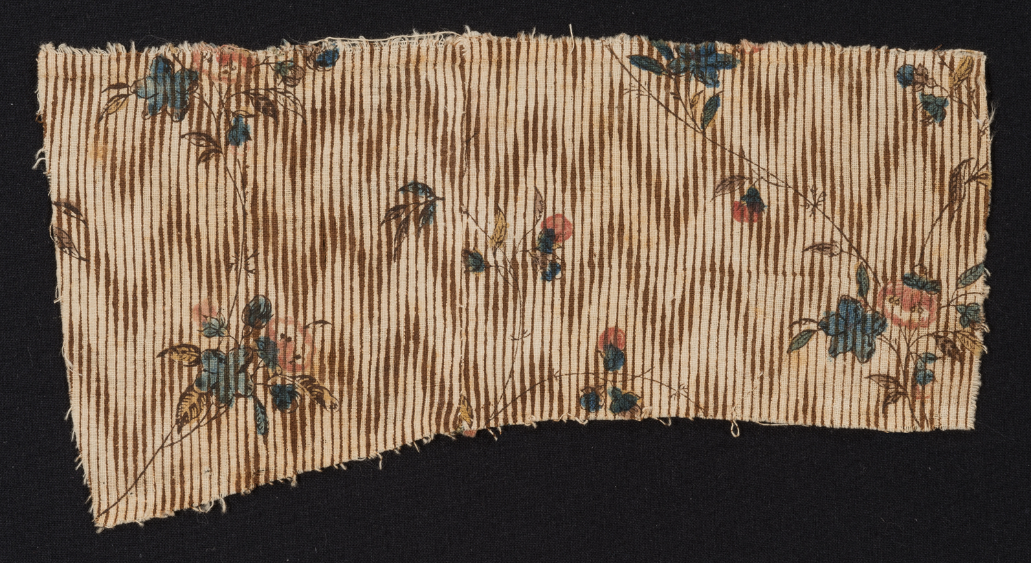 One of four known textile examples produced at Archibald Hamilton Rowan's calico-printing mill on the banks of the Brandywine, 1797–99. Bequest of Henry Francis du Pont 1967.836.