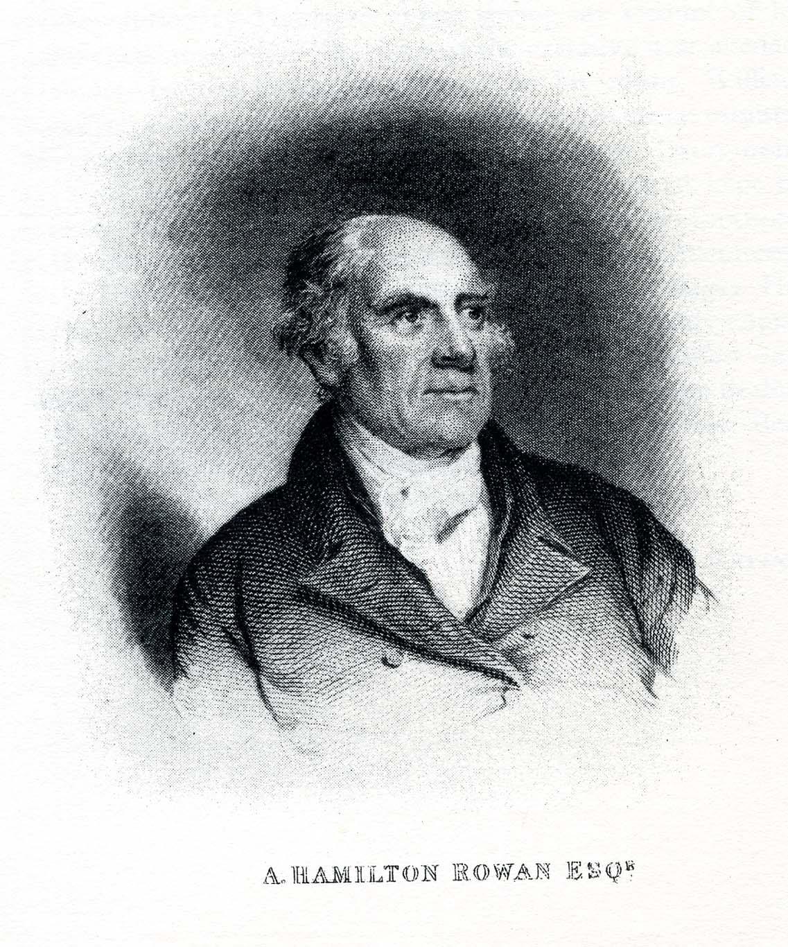 Engraving of Archibald Hamilton Rowan, ca. 1821.