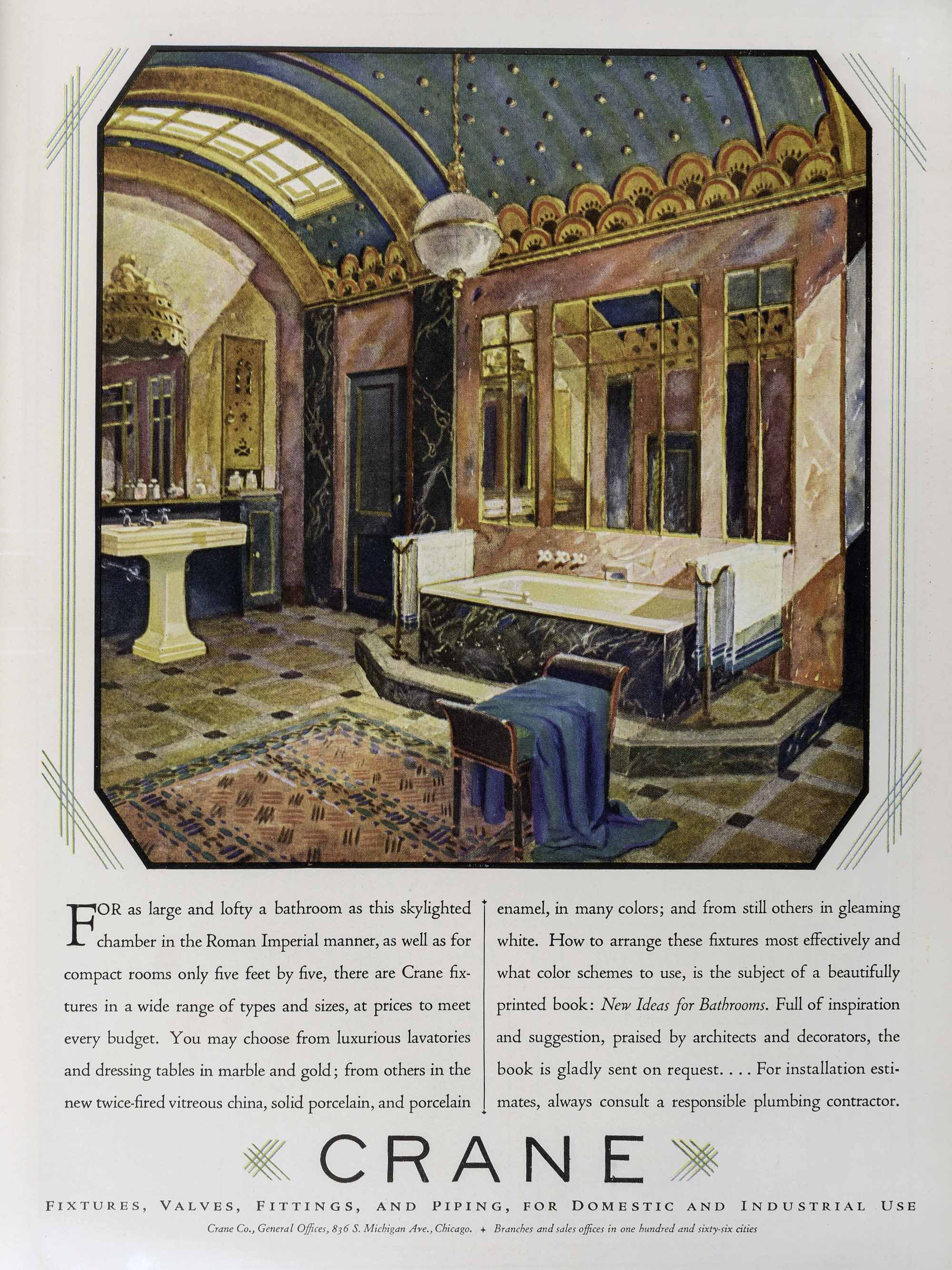 Crane bathroom advertisement, Courtesy Hagley Museum & Library