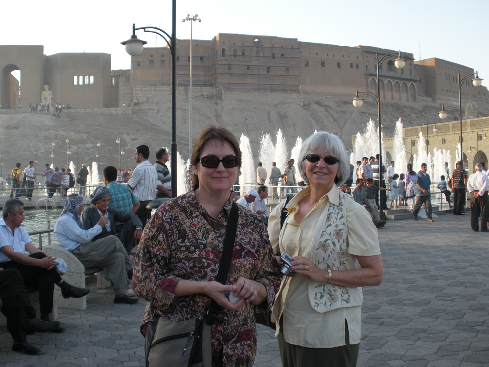With Jessie Johnson, Academic Director for The Iraqi Institute for the Conservation of Antiquities and Heritage (IICAH), in Erbil, Iraq taken 2010