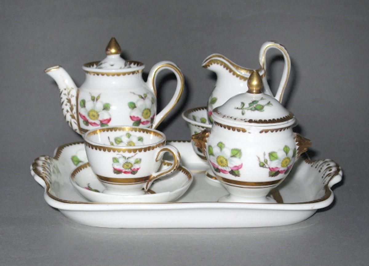 Dejeuner Paris Toys Spode factory, Staffordshire, England about 1820 Porcelain (bone china); Lead glaze Bequest of Mrs. Helen Shumway Mayer 2003.0013.136.001-.006