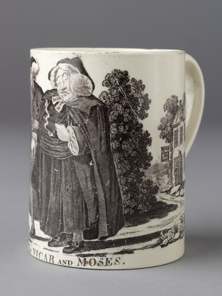 Mug, earthenware (creamware), Staffordshire, Eng., 1785–1805. Gift of John A and Judith C. Herdeg 2011.18