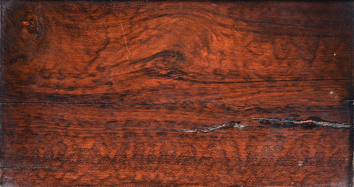 Snakewood detail from the chest of drawers with doors