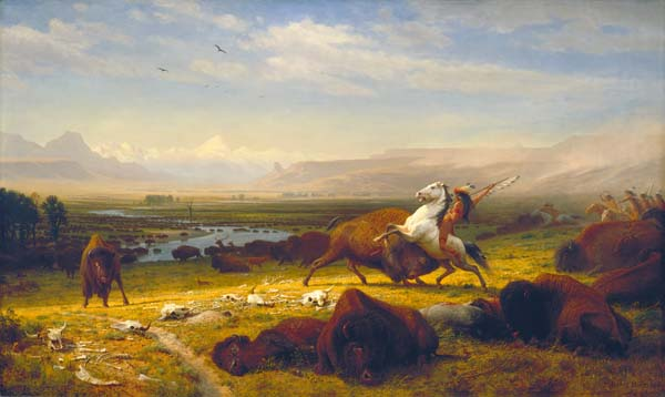 Albert Bierstadt, The Last Buffalo, 1888, oil on canvas, Corcoran Gallery of Art, Gift of Mary Stewart Bierstadt, 09.12.