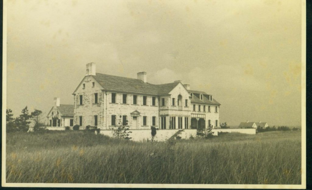 Chestertown House, from the water, 1937