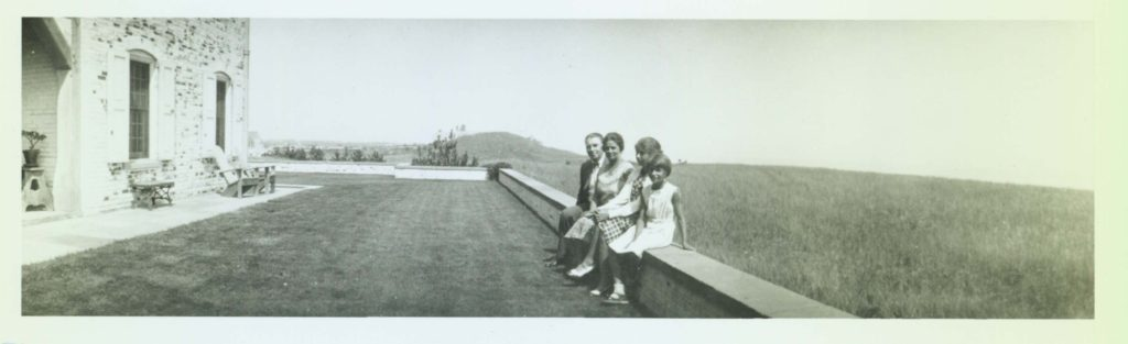 Chestertown House terrace, Henry Francis du Pont, Ruth Wales du Pont, Pauline Louise du Pont, Ruth Ellen du Pont, ca. 1930