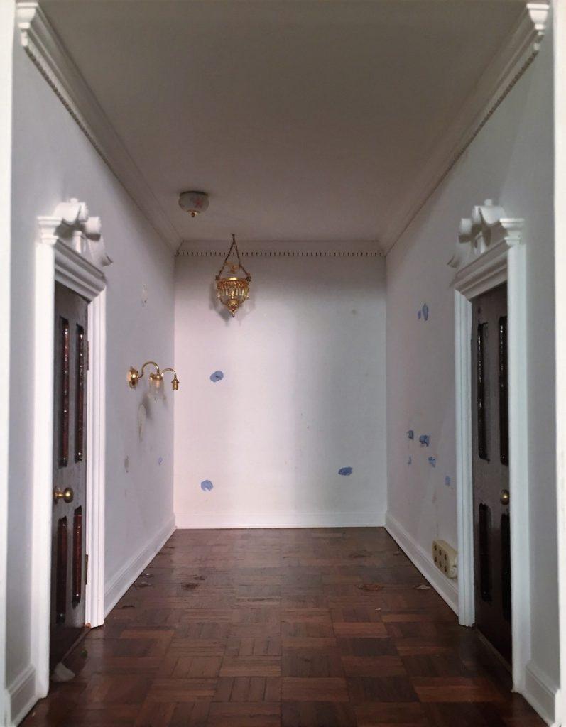 Rm 11- Royal Bathroom - Excessive Blu-Tack on walls