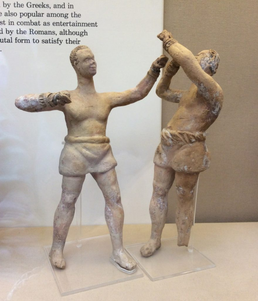 African boxers, terracotta, Roman, possibly made in Italy, 2nd or 1st century BCE. British Museum GR 1852.4-1.1, 2