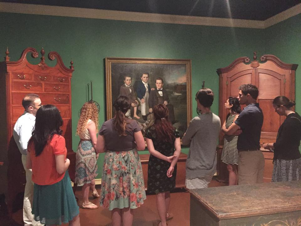 WPAMC students exploring the collections at the Museum of Early Southern Decorative Arts in Winston-Salem, NC