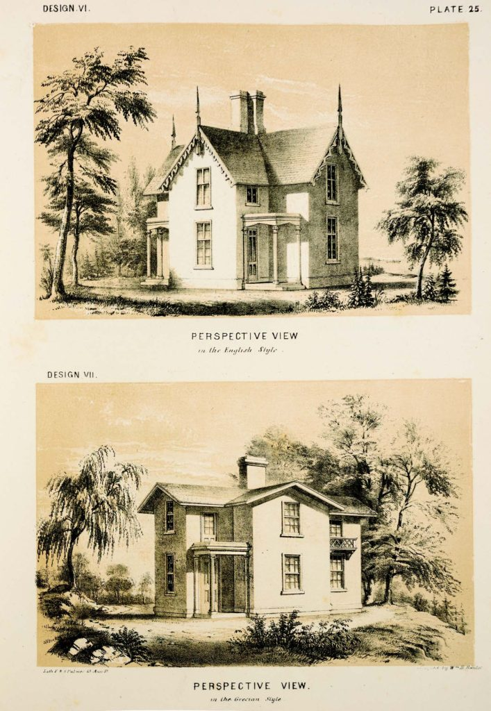 William H. Ranlett (1806–1865), The Architect; F. & S. Palmer, lithographers (New York: DeWitt & Davenport, 1847–1849). Printed Book and Periodical Collection, Winterthur Library.