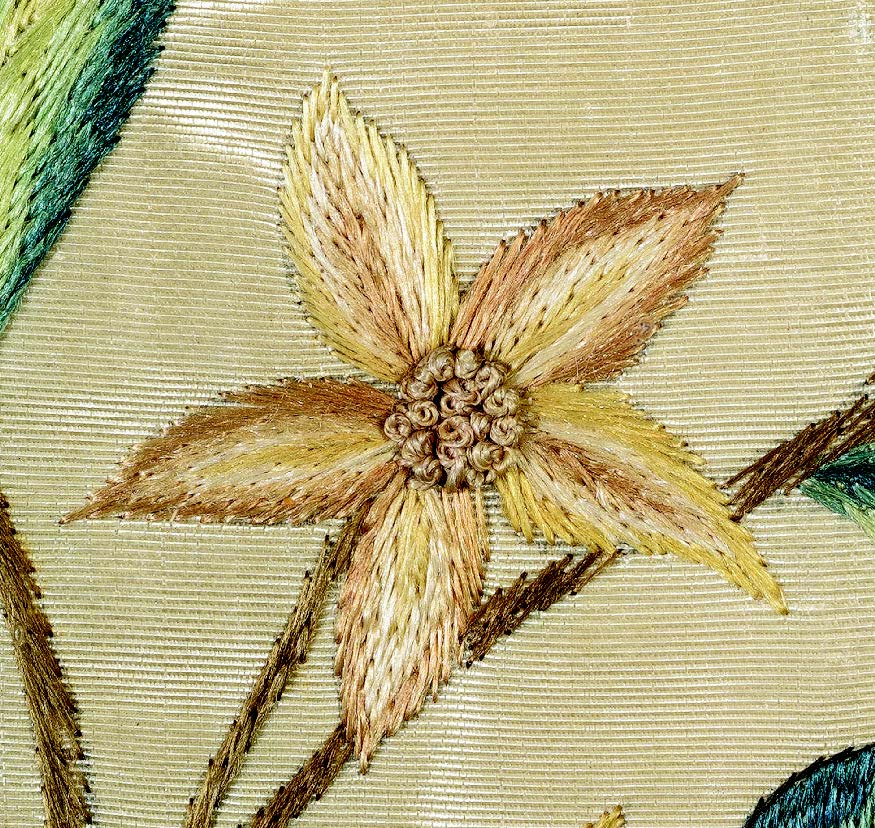 Needlework picture, detail, Sarah Wistar, 1752. Philadelphia. Museum purchase (1964.0120.002 A). Courtesy Winterthur Museum.