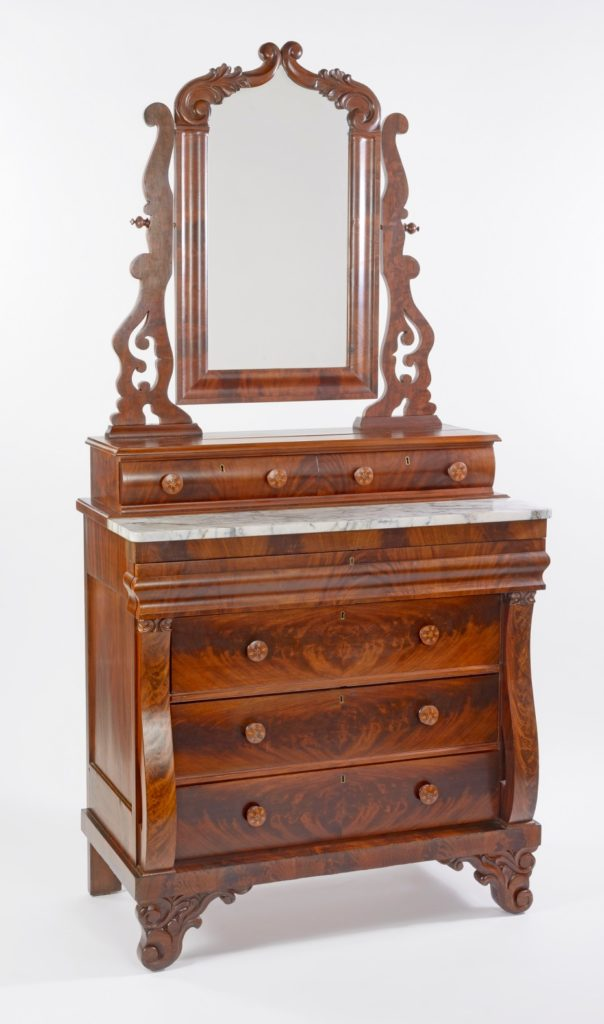 Dressing Bureau attributed to Thomas Day, ca. 1840. Museum purchase with funds provided by the Henry Francis du Pont Collectors Circle 2016.0039.