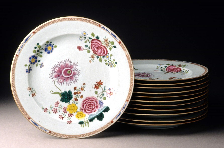 Plates in German or Saxonian flower pattern. Porcelain China 1760u201380. Bequest of Henry Francis du Pont 1966.566.184 (front-facing plate) & Winterthur Museum u0026 Library Blog