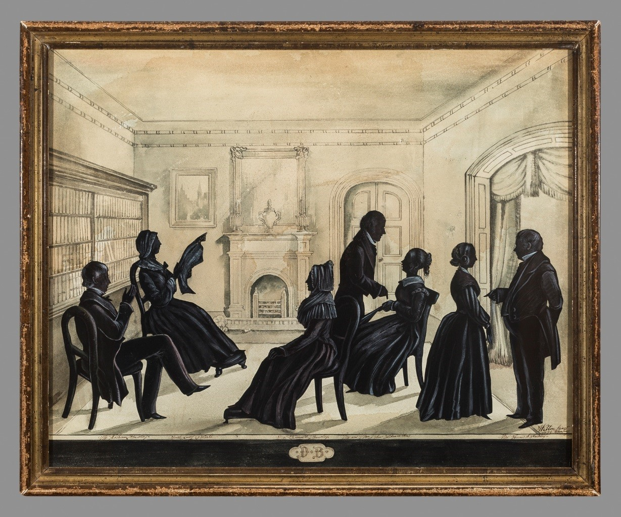 Group Silhouette Weston Profiles New York Ca 1840 50 Bequest Of Mrs Helen Shumway Mayer 20031335